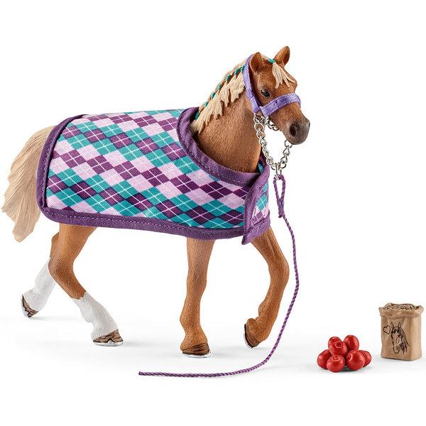 Schleich Engelse volbloed met deken - 42360