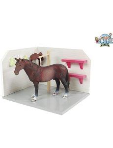 Kids Globe Paarden wasbox roze (geschikt voor Schleich) - KG610205