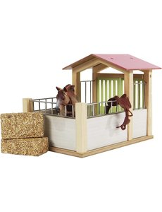 Kids Globe Paarden box roze (geschikt voor Schleich) - KG610206