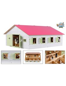 Kids Globe Paardenstal met 7 boxen roze (geschikt voor Schleich) - KG610189