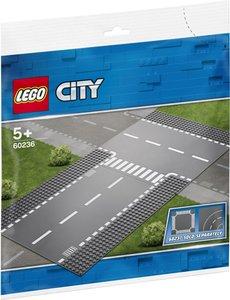 LEGO Rechte wegenplaten en T-kruising - 60236