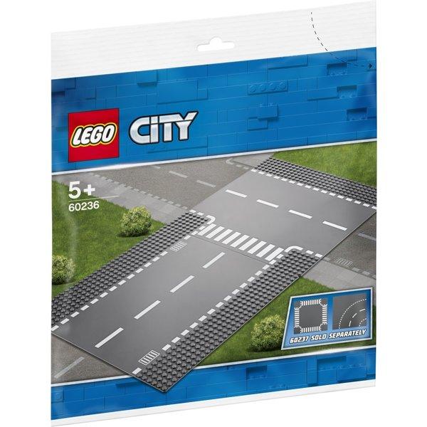 LEGO 60236 - Rechte wegenplaten en T-kruising
