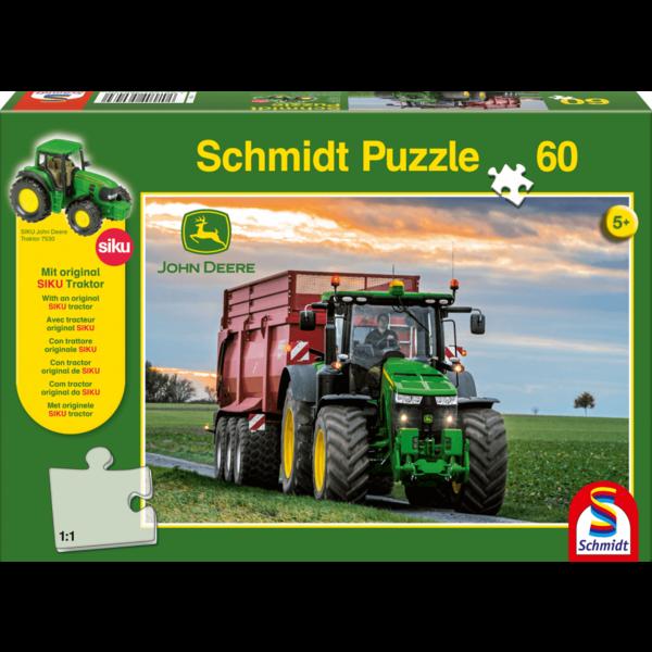 Schmidt John Deere met Siku tractor 60 stukjes