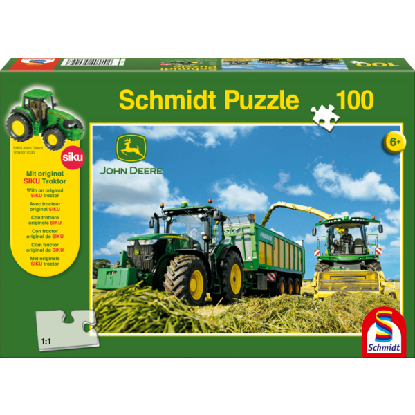 Tractor 7310R met 8600i hakselaar 100 stukjes