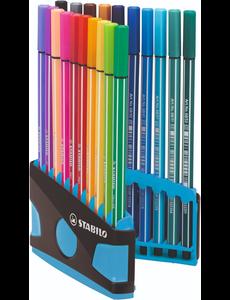 Stabilo 20 pen 68 colorparade antr/blauw
