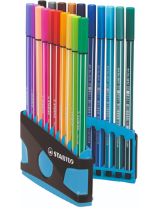 Stabilo Stabilo 20 pen 68 colorparade antr/blauw