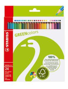 24 Stabilo Green Colors in etui