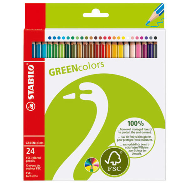 Stabilo 24 Stabilo Green Colors in etui