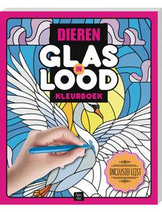 Glas in lood kleurboek dieren