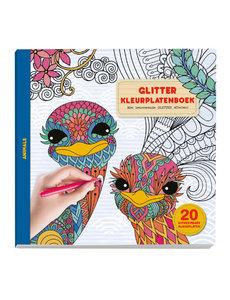Glitter kleurplatenboek dieren