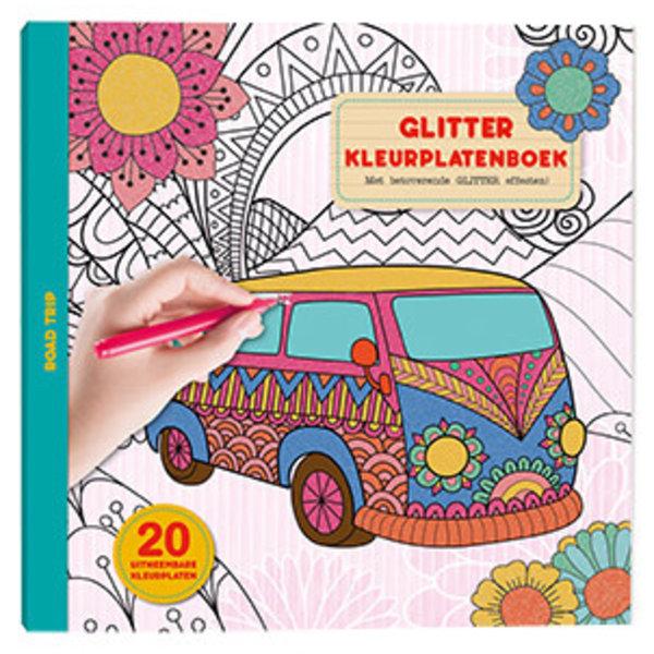 Glitter kleurplatenboek Road Trip