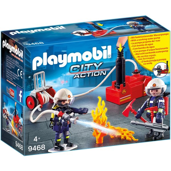Playmobil 9468 - Brandweerteam met waterpomp
