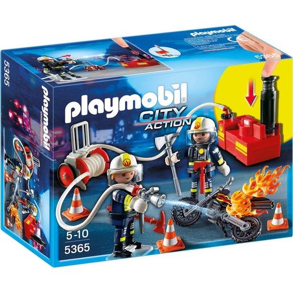 Playmobil 5365 - Brandweermannen met brandslang