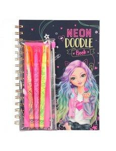 Depesche-TopModel TopModel Doodle kleurboek met neon stiften
