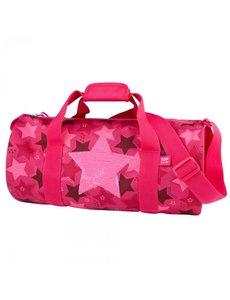 Depesche Sporttas met wrijfpailletten Star roze