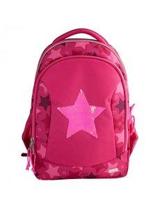 Depesche Rugzak met wrijfpailletten Star roze