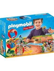 Playmobil 9329 - Motorcrossers met plattegrond