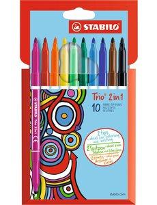 10 Stabilo Trio 2 in 1 Etui