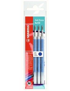 Stabilo Stabilo Gel Exxx pen navulling 3 stuks blauw of zwart