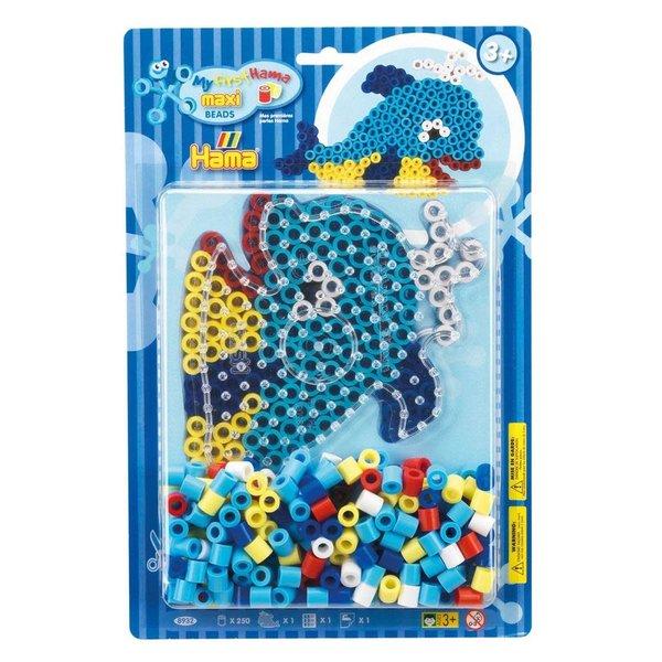 Maxi strijkkralen dolfijn - 250 dlg.
