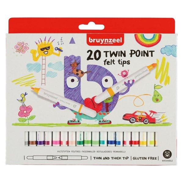 Bruynzeel Bruynzeel Viltstiften Twin Point 20 stuks