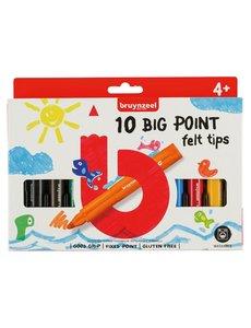 Bruynzeel viltstiften Big Point 10 stuks