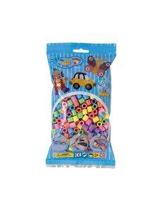 Maxi strijkkralen mix pastel - 500 stuks