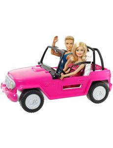 Barbie Barbie auto met Ken en Barbie