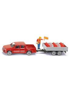 3543 - Pick-Up met aanhanger en wegmarkering