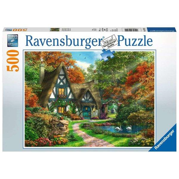 Ravensburger Cottage in de herfst 500 stukjes