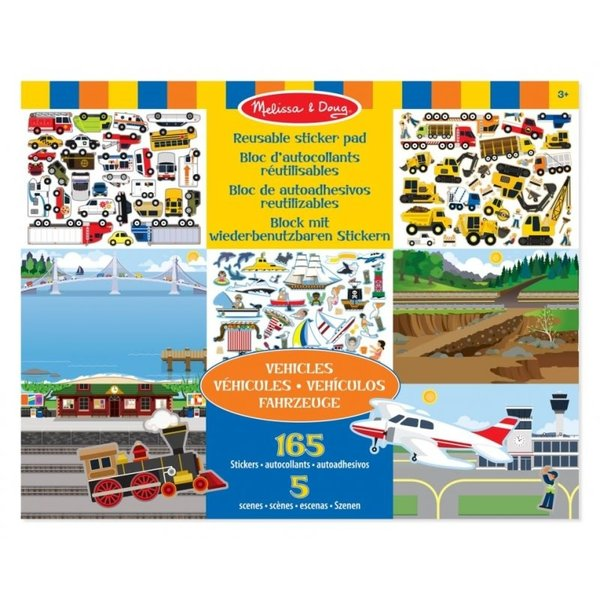 Melissa & Doug Herbruikbaar stickerboek voertuigen