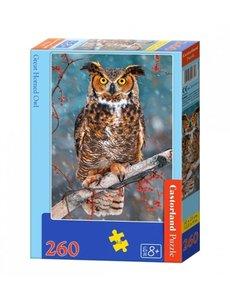 Castorland Great horend owl 260 stukjes