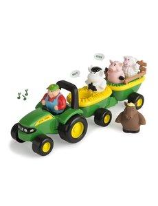 Tomy 3490 - JD Preschool Hooiwagen dierengeluiden