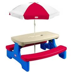 Picknickbank met parasol