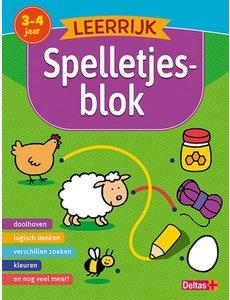 Leerrijk spelletjesblok; van 3-4 jaar