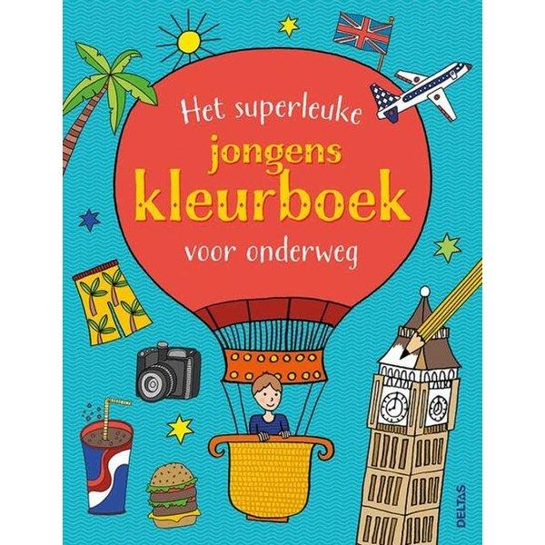 Het superleuke jongenskleurboek voor onderweg