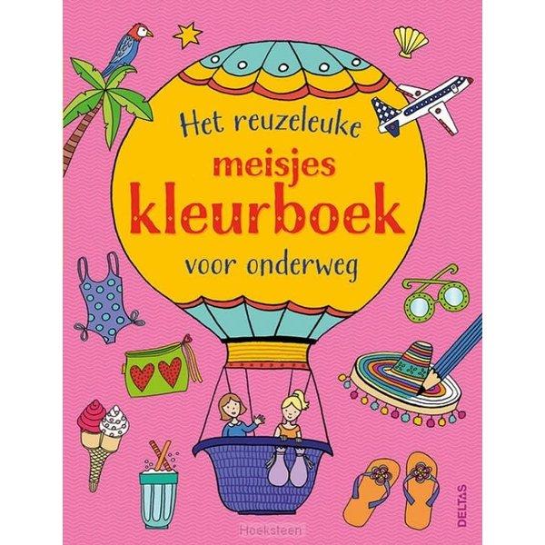 Het superleuke meisjeskleurboek voor onderweg
