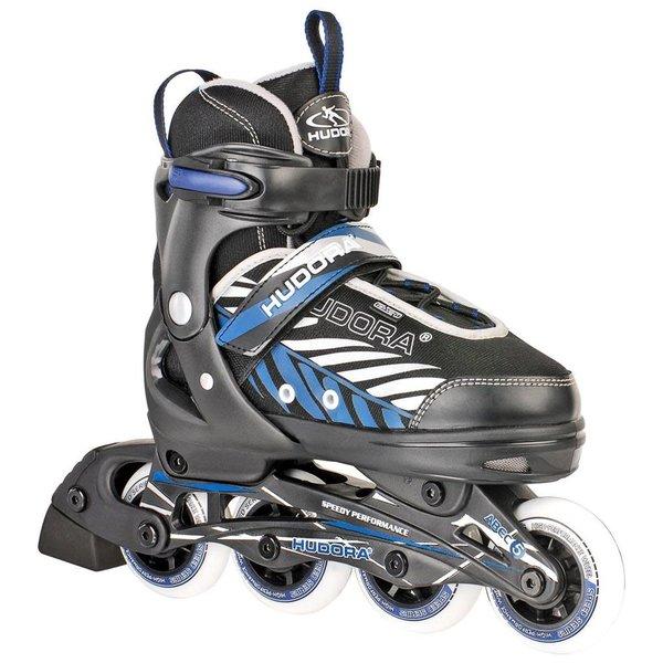 hudora Inline skate zwart/blauw maat 33-36