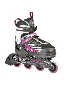 hudora Inline skate zwart-lila maat 33-36