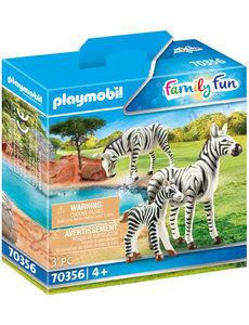 Playmobil 70356 - 2 Zebra's met baby