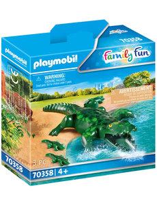 Playmobil 70358 - Alligator met baby