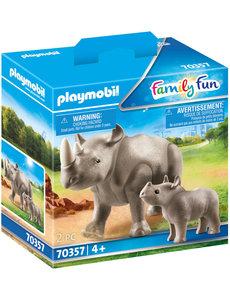 Playmobil 70357 - Neushoorn met baby