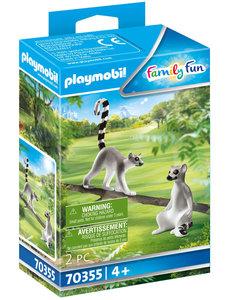 Playmobil 70355 - Koppel ringstaartmaki's