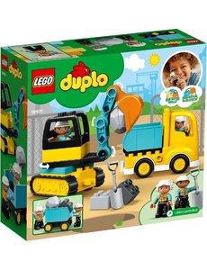 LEGO 10931 - Truck & Graafmachine met rupsbanden