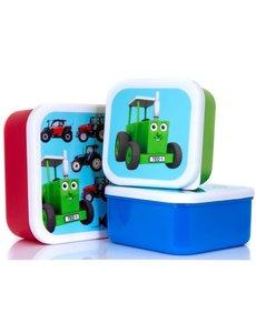 Snackdoosjes tractor (3 stuks)