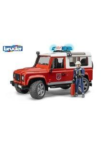Bruder 2596 - Land Rover Defender Stationwagen - Brandweerauto en brandweerman
