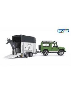 Bruder 2592 - Land Rover Defender met paardentrailer