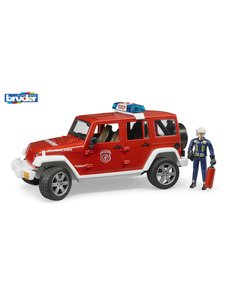 2528 - Jeep Wrangler Unlimited Rubicon brandweerauto + brandweerman