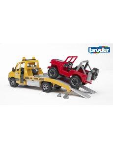 Bruder 2535 - Mercedes Benz Sprinter autotransporter met Jeep