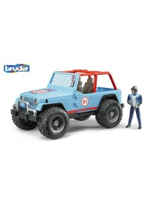 Bruder 2541 - Jeep Cross Country Blauw met rally-rijder